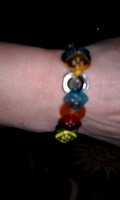 Button Bracelet- Custom colors avail.