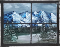 Mountain Window View