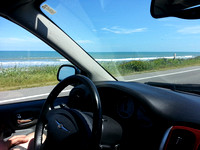 Driving up A1A in Florida along the coast.